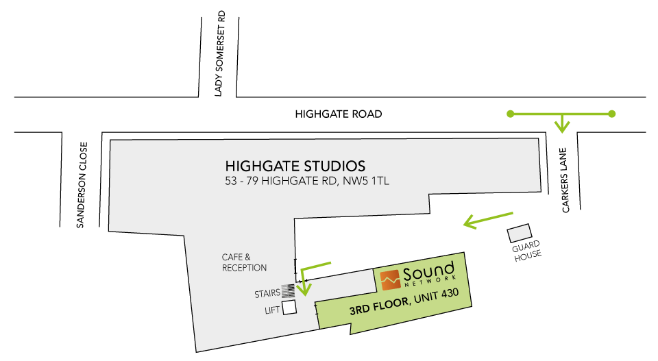 How to find Sound Network at Highgate Studios