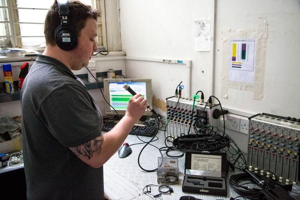 RFS Workshop engineers testing the DPA 4041-SP before a job