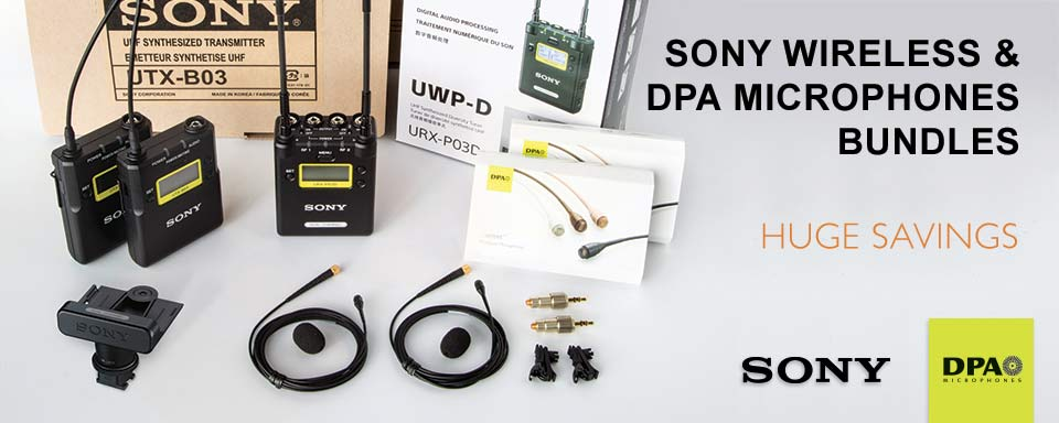 Sony Wireless and DPA Microphone Kits