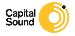 Capital Sound Logo black