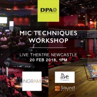 Mic Techniques Workshop, Newcastle Live Theatre