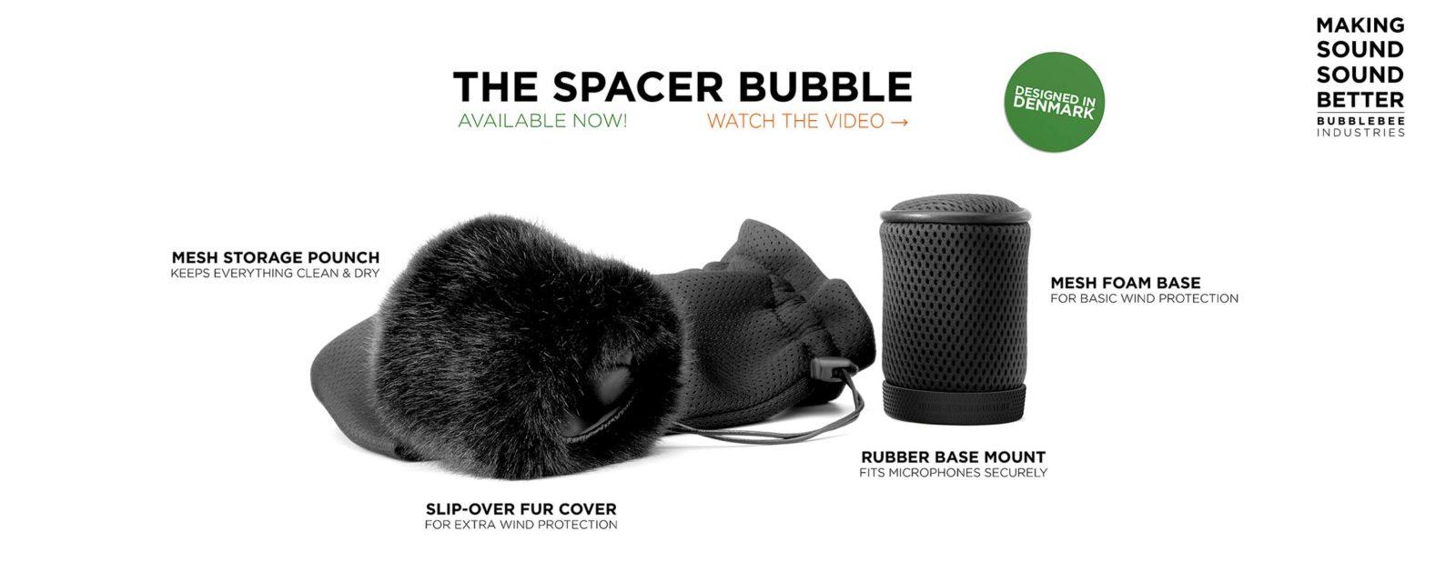Bubblebee Spacer Bubble Shotgun Mic Windshield