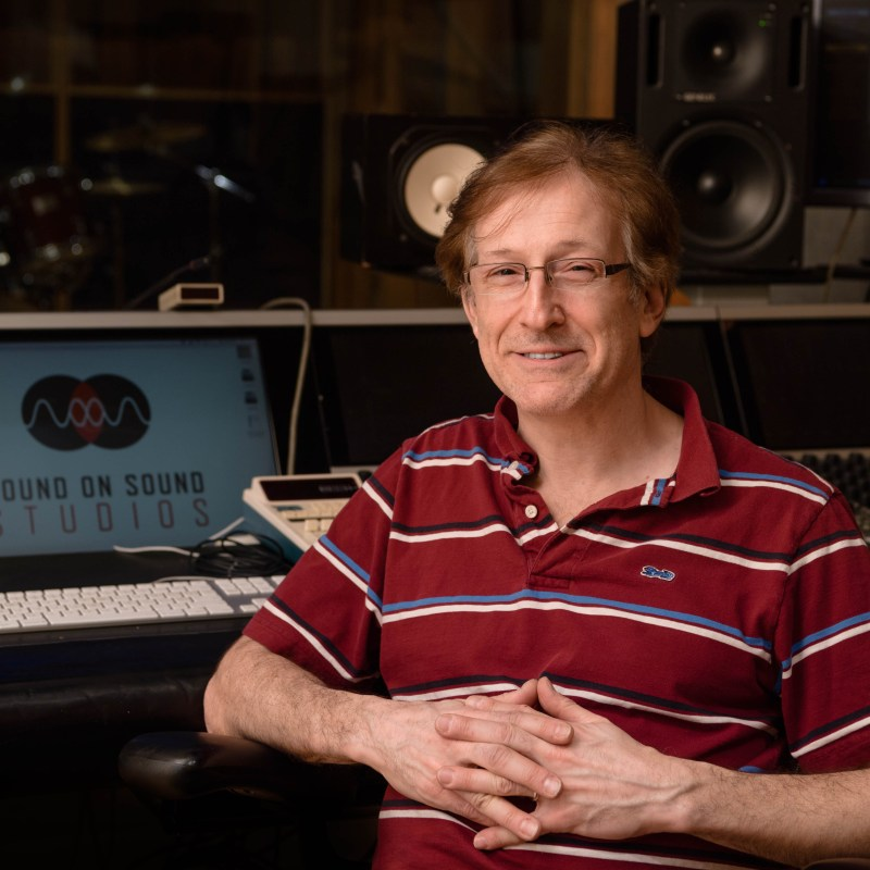 David Amlen (Owner & Cheif Engineer) in Studio B of Sound on Sound Studios 2/15/18