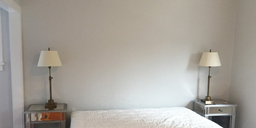 Interior bedroom painting in Montlake, Seattle, WA