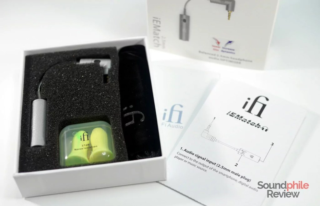 iFi IEMatch 2.5 packaging and accessories