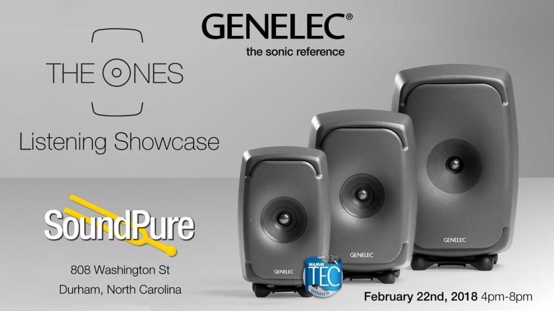 "Genelec ""The Ones"" Listening Showcase at Sound Pure Studios (Durham, NC)"