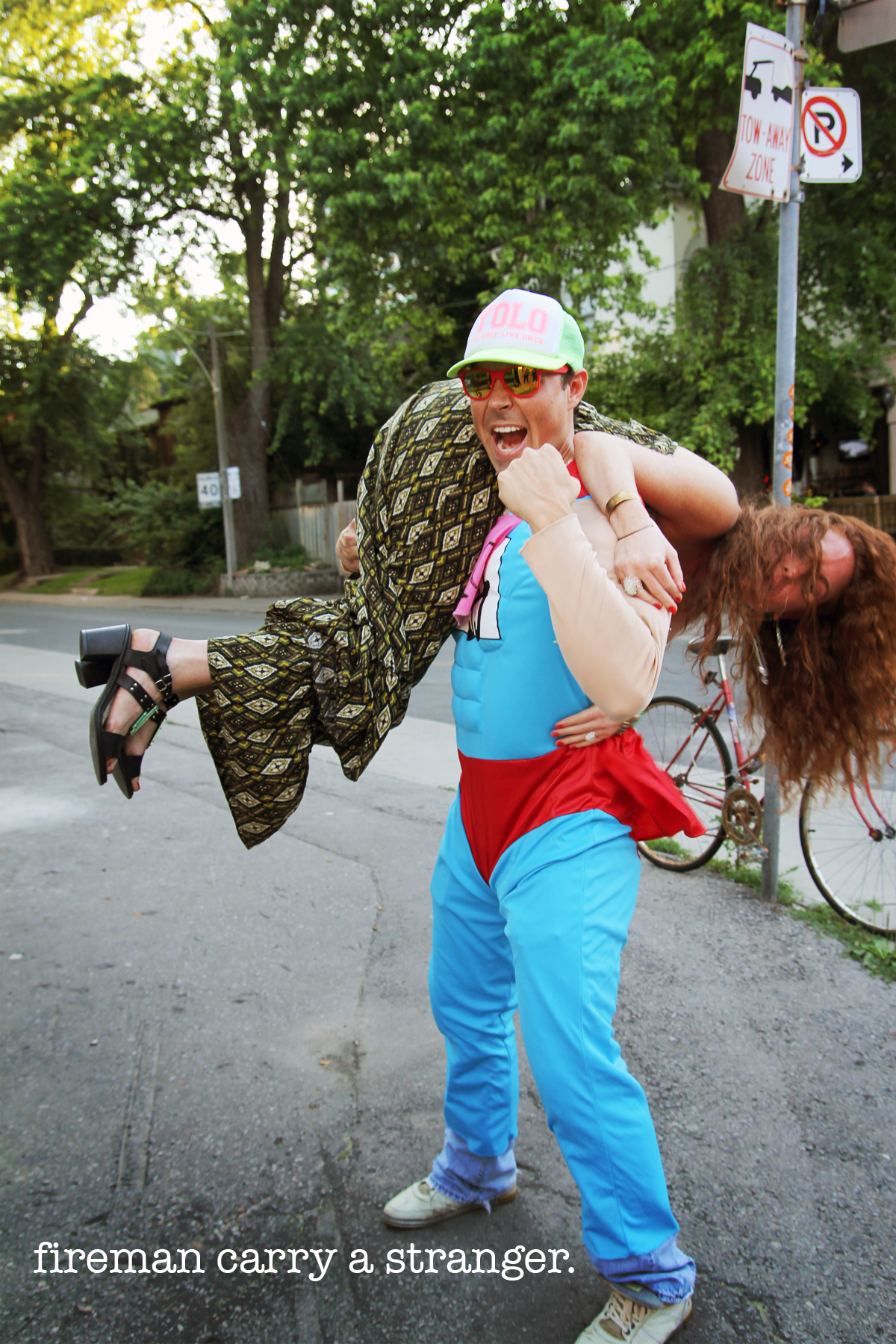 scavenger hunt - fireman carry a stranger