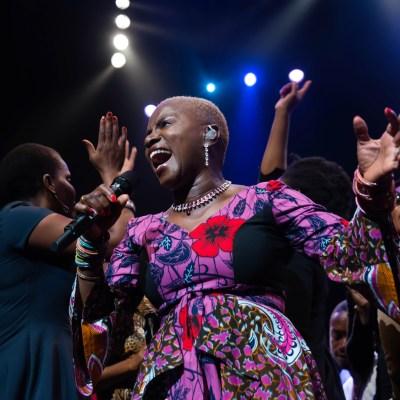 Angélique Kidjo performs at the South Bank Centre