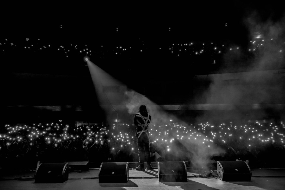 BurnaBoy performs live at Brixton Academy.