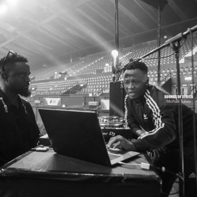 Rapper Sarkodie and DJ Mensah