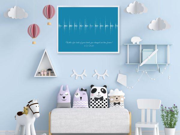 sound wave art nursery decor