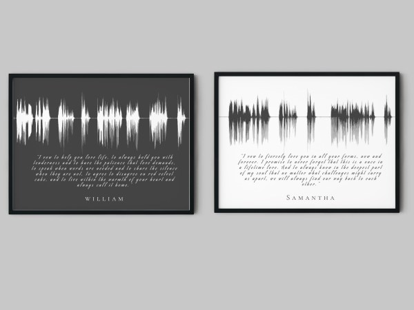 His & Her Wedding Vows Soundwave with Lyrics
