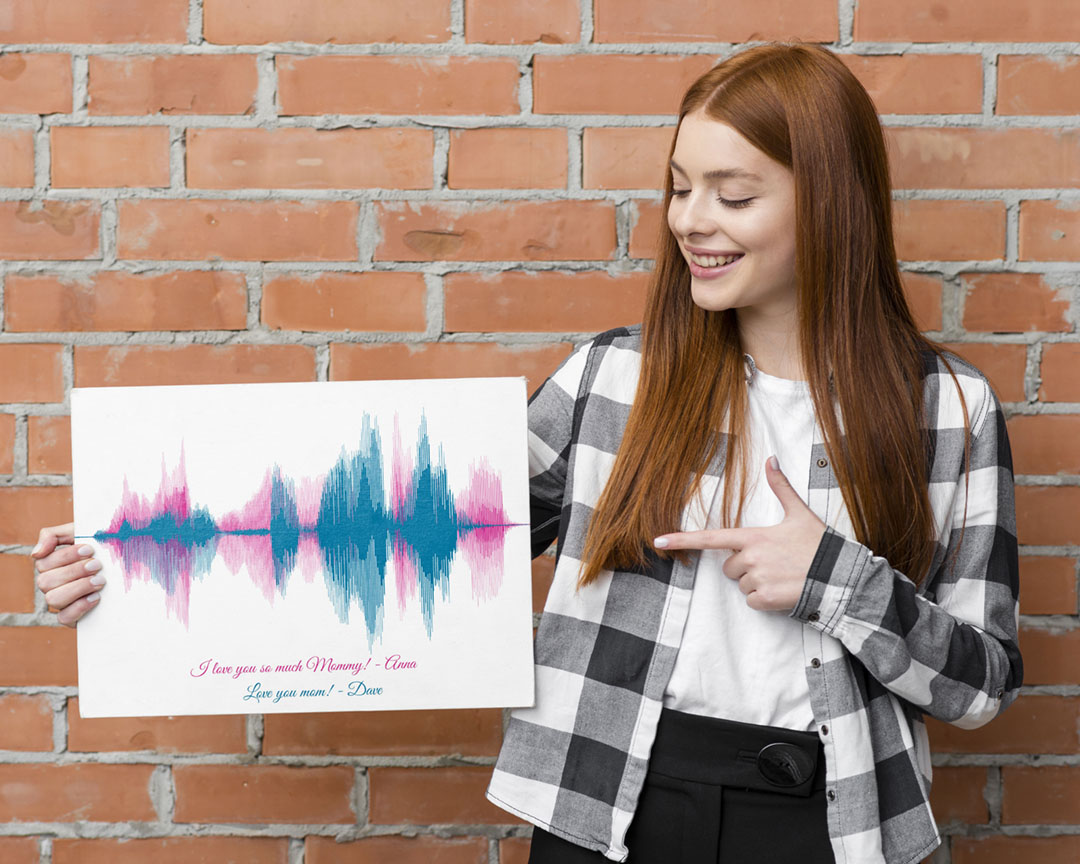 I love you mom sound wave artwork