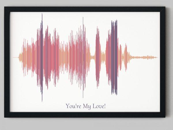 husband sound wave art gift