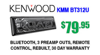 Kenwood KMM-BT312U digital receiver with Bluetooth for only $79.95 at Sounds Good To Me in Tempe AZ near Phoenix