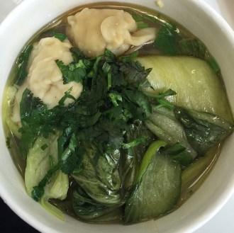 Pork dumpling noodle soup