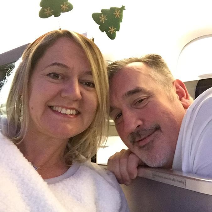 Christmas on a plane