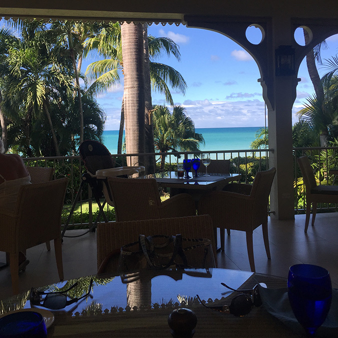 The view from the table at Blue Waters, Antigua