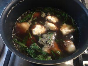 Soupologie Three Mushroom Broth with Wontons C