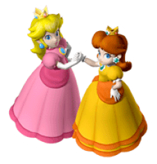Brawl_Sticker_Peach_&_Daisy_(Mario_Party_7)