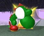 Wh-, why is Yoshi biting them!?!? This is a grab attack.