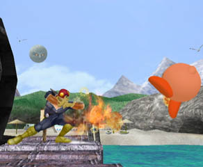 The one who gets hit can adjust the direction of their knockback! For those of you who have played a lot of Smash, I'm sure you can tell how important this is.