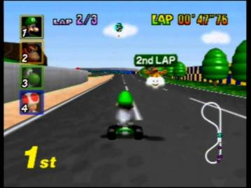 From artwork to voice clips, Luigi in Smash took a lot of assets from Mario Kart 64.