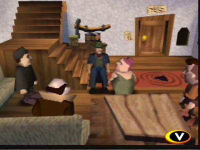 An early screen of Earthbound 64 that was in development alongside Super Smash Bros.