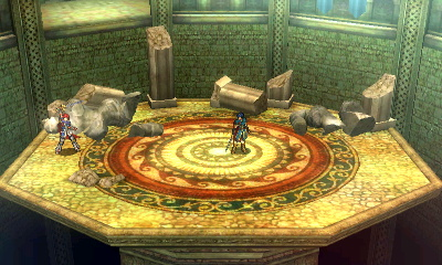 The statues can be broken. In several Fire Emblem titles, there are maps with breakable terrain, something that might have inspired the mechanic present in this stage, as well as Castle Siege.