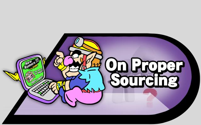 proper sourcing