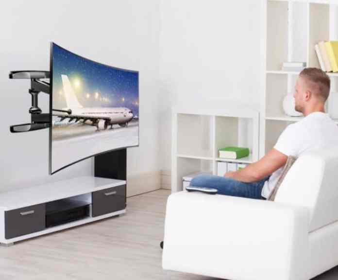 curved television