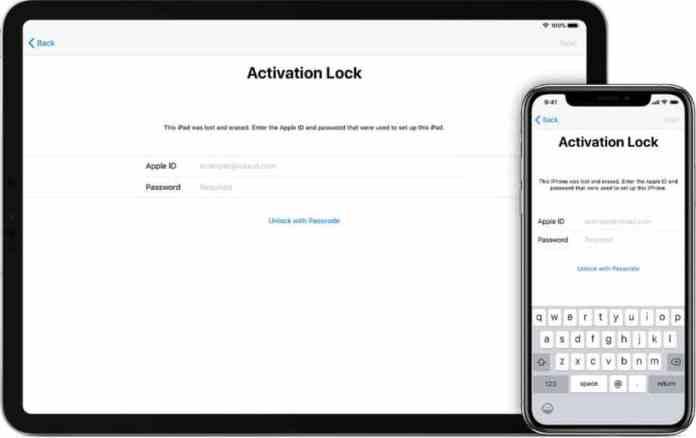 activation lock iCloud