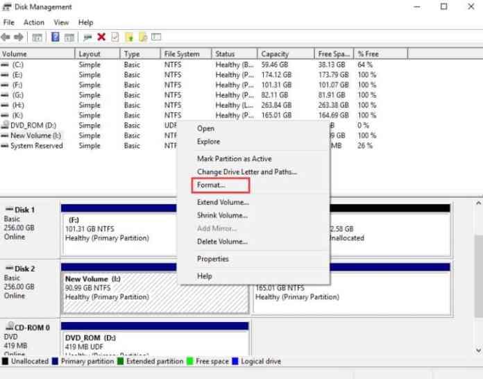 SSD format