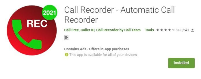 automatically record phone calls on Android