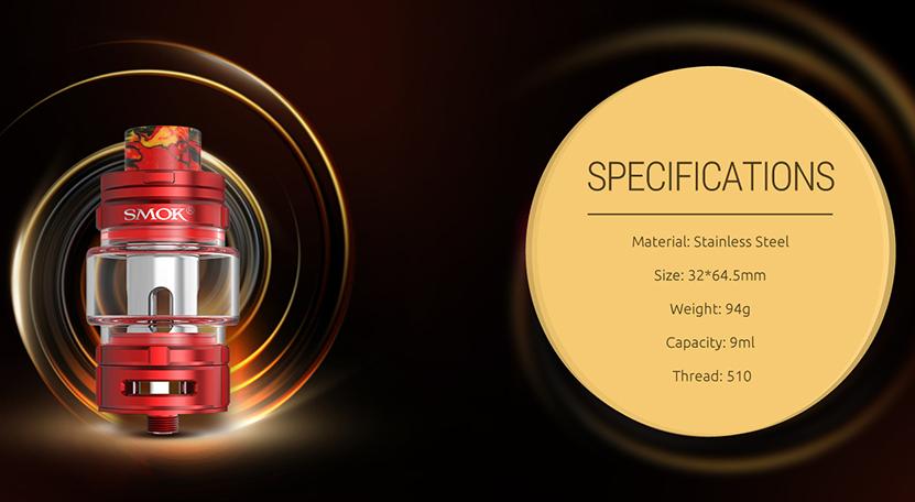 TFV16 Vape Tank Specification