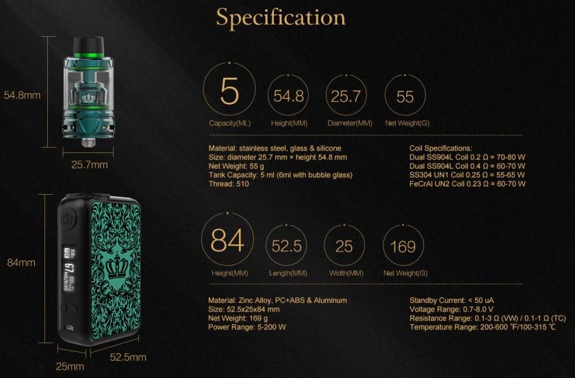 Uwell Crown 4 Vape Kit Features 2