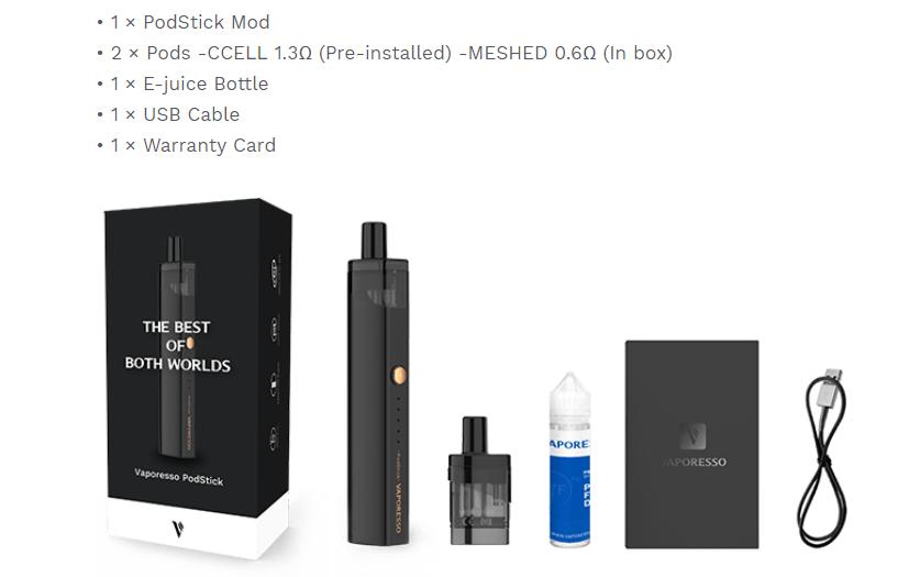 Vaporesso Podstick Kit Packagey