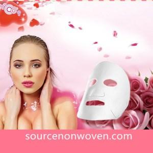 Pink Silk And CUPRO Facial Mask Sheet