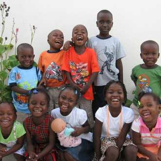 Some of the first children in Source of Life Ministries