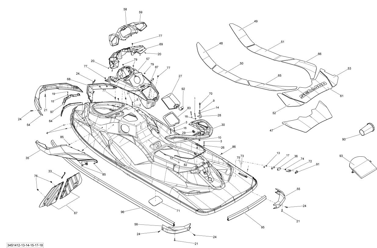 Sea Doo Gti Gti 130 Body Parts