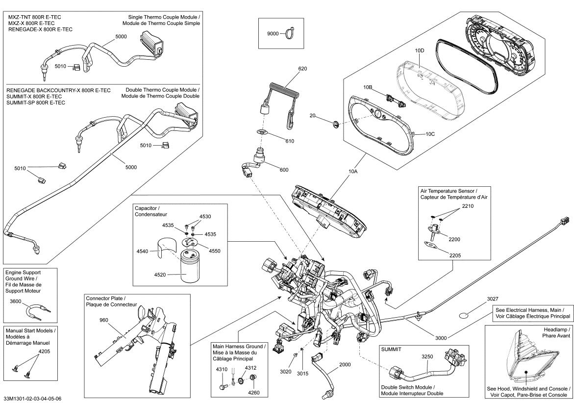 Ski Doo Summit X 800re Xm Dart Manual Start Models