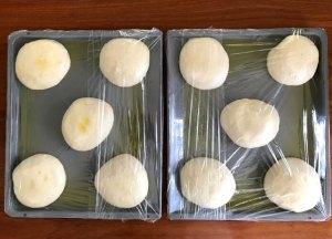 scaled dough in oil