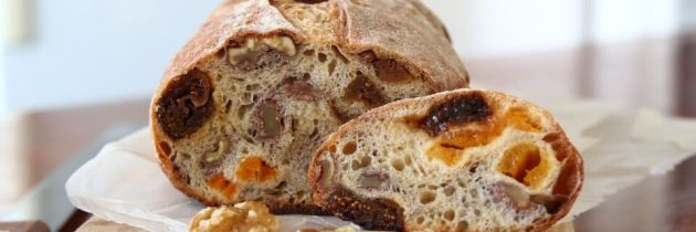 Fig Apricot Raisin and Walnut Sourdough