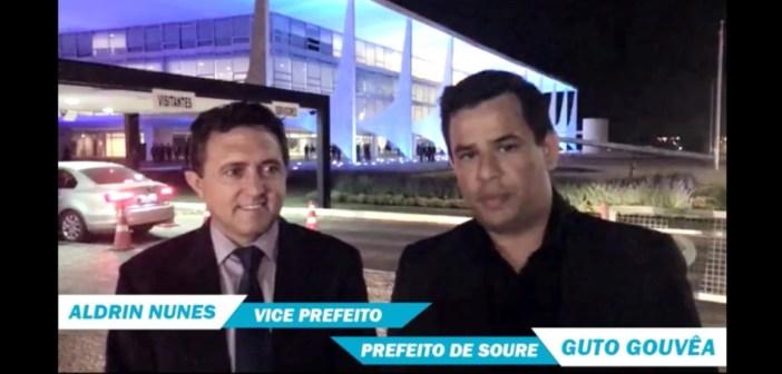 Prefeito e Vice-prefeito vão a Brasilia e trazem notícias boas para Soure