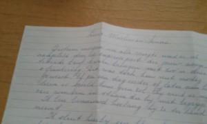 brief mamma uit 1991