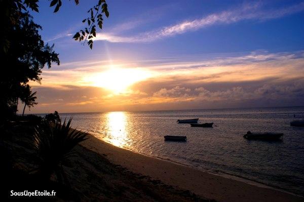 plage hotel casuarina Maurice coucher soleil