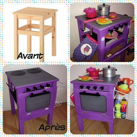 fabriquer cuisine enfant tabouret