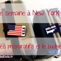 budget preparatifs semaine new york