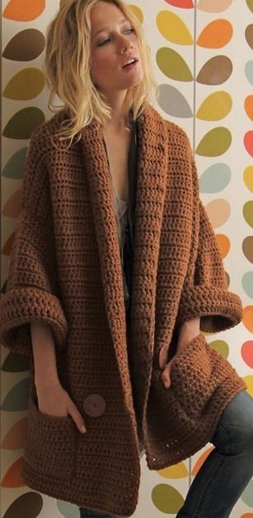 crochet sweater gilet