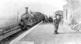 Image of train at South Willingham Station heading to Louth
